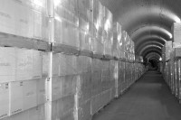 Pallet storage of wine for bulk customers is avavilable at The Tunnels